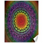 Rainbow Mandala Circle Canvas 11  x 14   14 x11  Canvas - 1