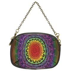 Rainbow Mandala Circle Chain Purses (two Sides)