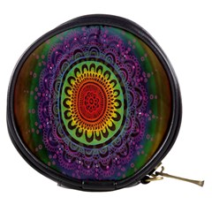 Rainbow Mandala Circle Mini Makeup Bags by Mariart
