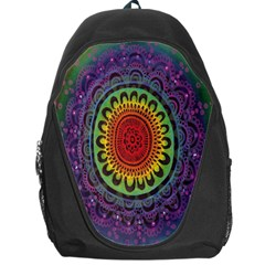 Rainbow Mandala Circle Backpack Bag by Mariart