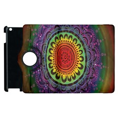 Rainbow Mandala Circle Apple Ipad 3/4 Flip 360 Case by Mariart