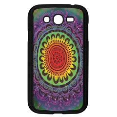 Rainbow Mandala Circle Samsung Galaxy Grand Duos I9082 Case (black) by Mariart
