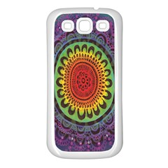 Rainbow Mandala Circle Samsung Galaxy S3 Back Case (white) by Mariart
