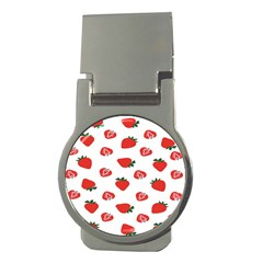 Red Fruit Strawberry Pattern Money Clips (round)  by Mariart