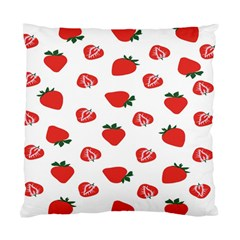 Red Fruit Strawberry Pattern Standard Cushion Case (two Sides) by Mariart