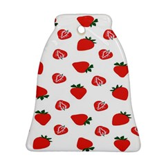 Red Fruit Strawberry Pattern Bell Ornament (two Sides) by Mariart