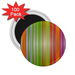 Rainbow Stripes Vertical Colorful Bright 2 25  Magnets (100 Pack)  by Mariart