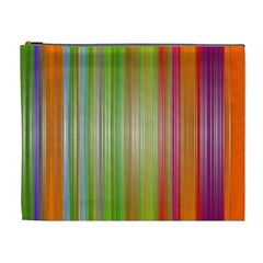 Rainbow Stripes Vertical Colorful Bright Cosmetic Bag (xl) by Mariart