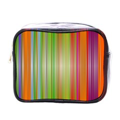 Rainbow Stripes Vertical Colorful Bright Mini Toiletries Bags by Mariart