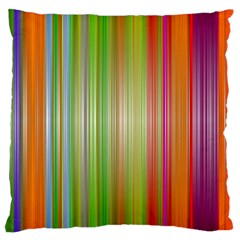 Rainbow Stripes Vertical Colorful Bright Large Cushion Case (two Sides)