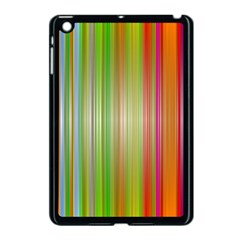 Rainbow Stripes Vertical Colorful Bright Apple Ipad Mini Case (black) by Mariart