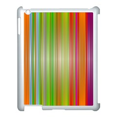 Rainbow Stripes Vertical Colorful Bright Apple Ipad 3/4 Case (white) by Mariart
