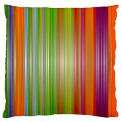 Rainbow Stripes Vertical Colorful Bright Large Flano Cushion Case (one Side) by Mariart