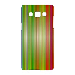 Rainbow Stripes Vertical Colorful Bright Samsung Galaxy A5 Hardshell Case  by Mariart
