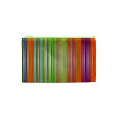 Rainbow Stripes Vertical Colorful Bright Cosmetic Bag (xs) by Mariart