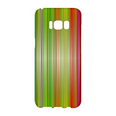 Rainbow Stripes Vertical Colorful Bright Samsung Galaxy S8 Hardshell Case  by Mariart