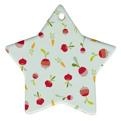 Root Vegetables Pattern Carrots Ornament (star) by Mariart