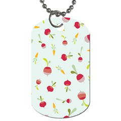 Root Vegetables Pattern Carrots Dog Tag (two Sides) by Mariart