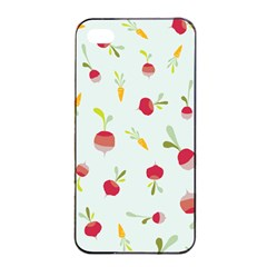 Root Vegetables Pattern Carrots Apple Iphone 4/4s Seamless Case (black) by Mariart