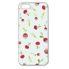 Root Vegetables Pattern Carrots Apple Seamless Iphone 5 Case (clear) by Mariart