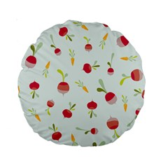 Root Vegetables Pattern Carrots Standard 15  Premium Round Cushions by Mariart