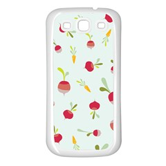 Root Vegetables Pattern Carrots Samsung Galaxy S3 Back Case (white) by Mariart