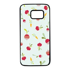 Root Vegetables Pattern Carrots Samsung Galaxy S7 Black Seamless Case by Mariart