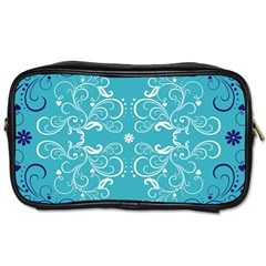 Repeatable Patterns Shutterstock Blue Leaf Heart Love Toiletries Bags
