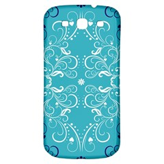 Repeatable Patterns Shutterstock Blue Leaf Heart Love Samsung Galaxy S3 S Iii Classic Hardshell Back Case by Mariart