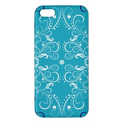 Repeatable Patterns Shutterstock Blue Leaf Heart Love Apple Iphone 5 Premium Hardshell Case by Mariart
