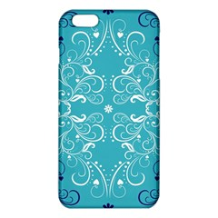 Repeatable Patterns Shutterstock Blue Leaf Heart Love Iphone 6 Plus/6s Plus Tpu Case by Mariart