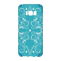 Repeatable Patterns Shutterstock Blue Leaf Heart Love Samsung Galaxy S8 Hardshell Case  by Mariart