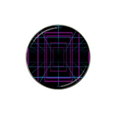 Retro Neon Grid Squares And Circle Pop Loop Motion Background Plaid Purple Hat Clip Ball Marker (10 Pack) by Mariart