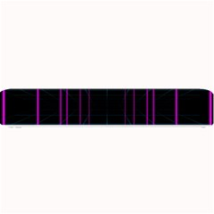 Retro Neon Grid Squares And Circle Pop Loop Motion Background Plaid Purple Small Bar Mats by Mariart
