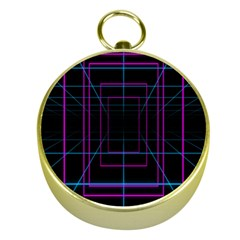 Retro Neon Grid Squares And Circle Pop Loop Motion Background Plaid Purple Gold Compasses by Mariart