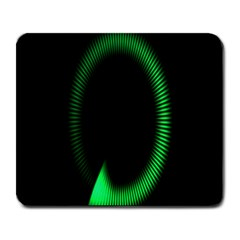 Rotating Ring Loading Circle Various Colors Loop Motion Green Large Mousepads by Mariart