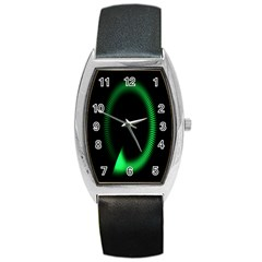 Rotating Ring Loading Circle Various Colors Loop Motion Green Barrel Style Metal Watch by Mariart