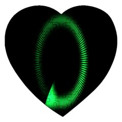 Rotating Ring Loading Circle Various Colors Loop Motion Green Jigsaw Puzzle (heart) by Mariart