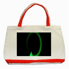 Rotating Ring Loading Circle Various Colors Loop Motion Green Classic Tote Bag (red) by Mariart