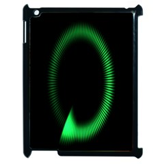 Rotating Ring Loading Circle Various Colors Loop Motion Green Apple Ipad 2 Case (black) by Mariart