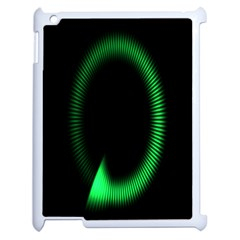 Rotating Ring Loading Circle Various Colors Loop Motion Green Apple Ipad 2 Case (white) by Mariart