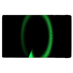 Rotating Ring Loading Circle Various Colors Loop Motion Green Apple Ipad 3/4 Flip Case by Mariart