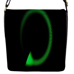 Rotating Ring Loading Circle Various Colors Loop Motion Green Flap Messenger Bag (s) by Mariart