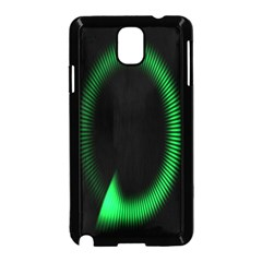 Rotating Ring Loading Circle Various Colors Loop Motion Green Samsung Galaxy Note 3 Neo Hardshell Case (black) by Mariart