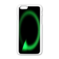 Rotating Ring Loading Circle Various Colors Loop Motion Green Apple Iphone 6/6s White Enamel Case by Mariart