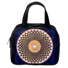 Sahasrara Blue Classic Handbags (one Side) by Mariart