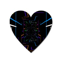 Seamless 3d Animation Digital Futuristic Tunnel Path Color Changing Geometric Electrical Line Zoomin Heart Magnet by Mariart