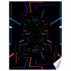 Seamless 3d Animation Digital Futuristic Tunnel Path Color Changing Geometric Electrical Line Zoomin Canvas 18  X 24   by Mariart