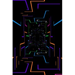 Seamless 3d Animation Digital Futuristic Tunnel Path Color Changing Geometric Electrical Line Zoomin 5 5  X 8 5  Notebooks by Mariart