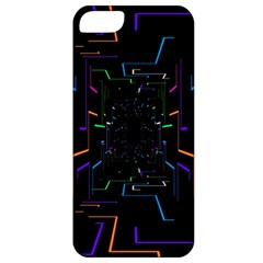 Seamless 3d Animation Digital Futuristic Tunnel Path Color Changing Geometric Electrical Line Zoomin Apple Iphone 5 Classic Hardshell Case by Mariart